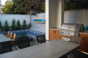 Capps lighted outdoor kitchen, sitting area and fire pit