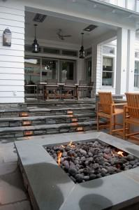 Capps lighted outdoor kitchen and fire pit