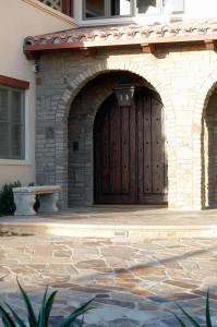 Stone driveway and entryway