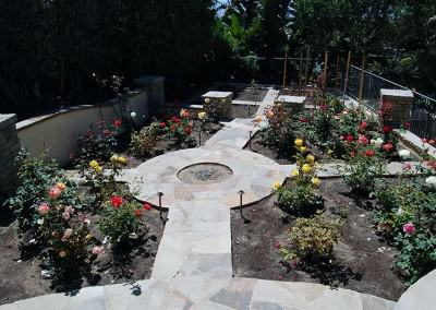 Rose Garden with stone walkways