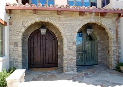 Arched Stone entryway