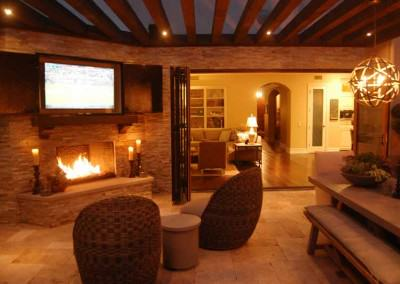 The Winns - Entertain by firelight in your outdoor living room