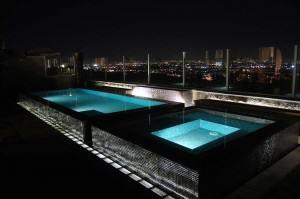 Glass Tile Pool and Spa