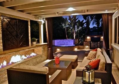 Outdoor living room with a view!