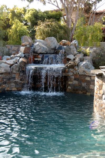 Waterfall and grotto