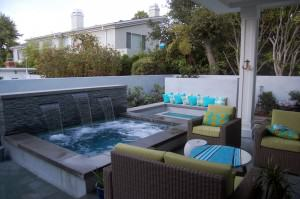 Orland Residence – Outdoor living room, outdoor kitchen, spa, fire pit