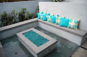 Orland Residence – Fire pit with custom seating area