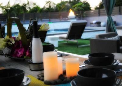 Elegance of outdoor dining