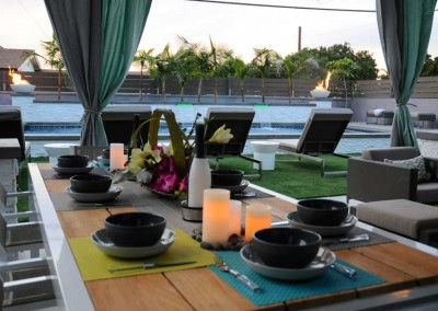 Get your family together for pool side dining!