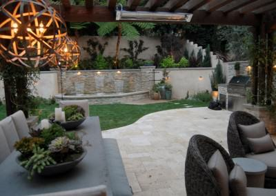 The Winns - Luxury outdoor dining with a view of the waterfalls